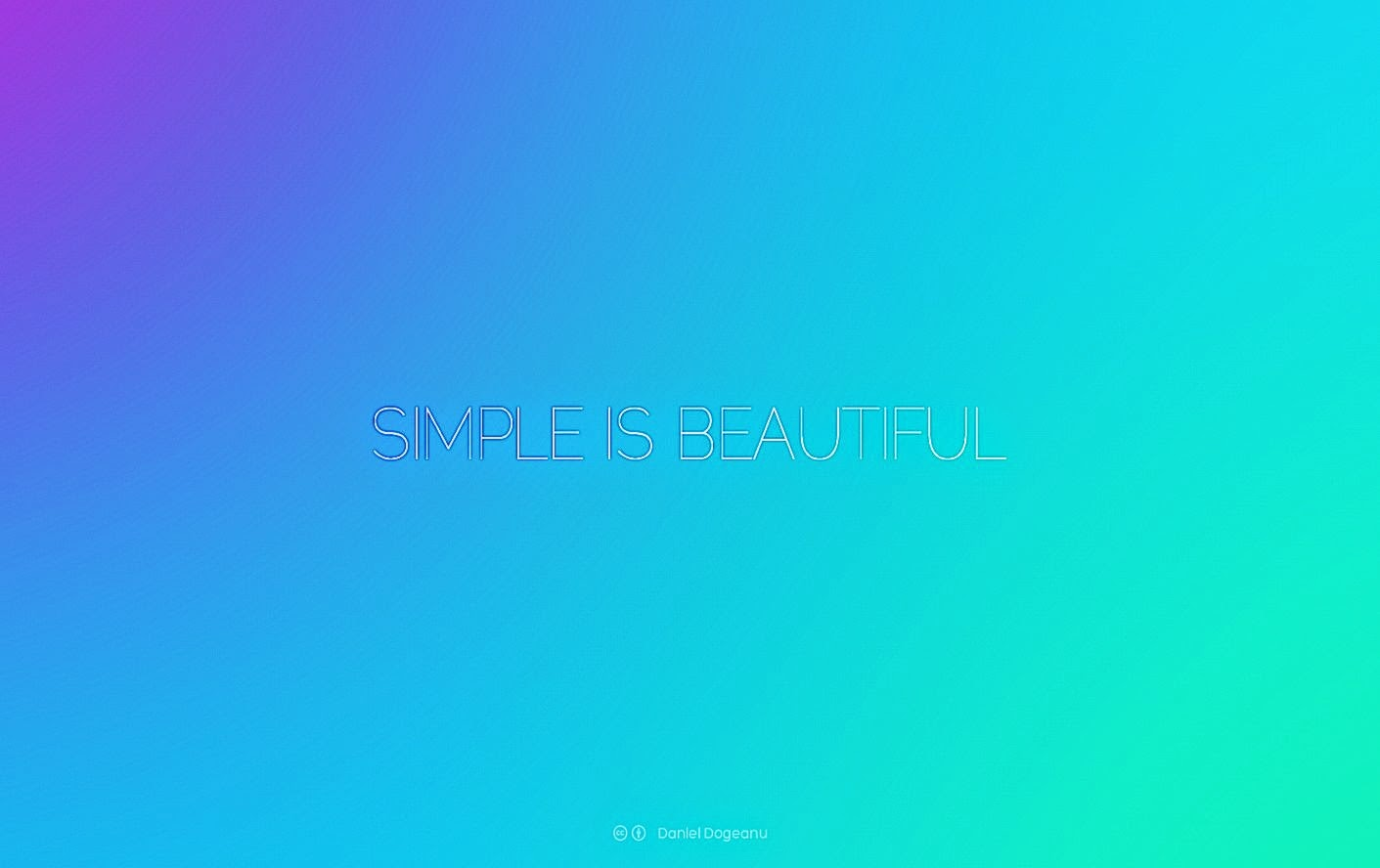 Simple Is Beautiful Desktop WallPaper HD