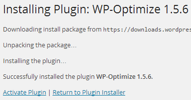 install wp optimize