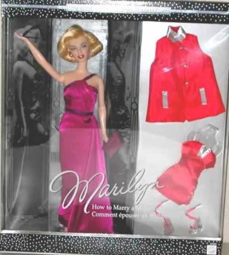 """Barbie Marilyn Monroe de la película """"Cómo casarse con un millonario"""""""