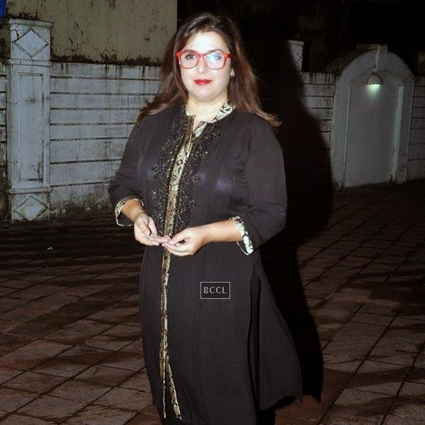 Farah Khan attends the wrap-party of Bollywood movie Mary Kom, held at Sanjay Leela Bhansali's residence on July 26, 2014.(Pic: Viral Bhayani)