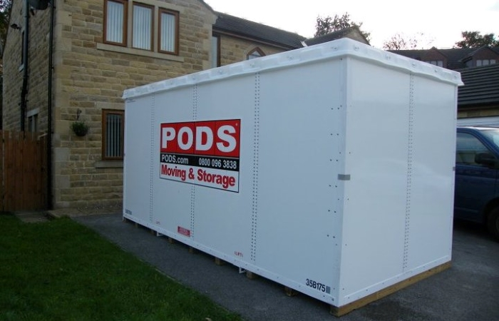 PODS storage container to protect belongings during water damage restoration