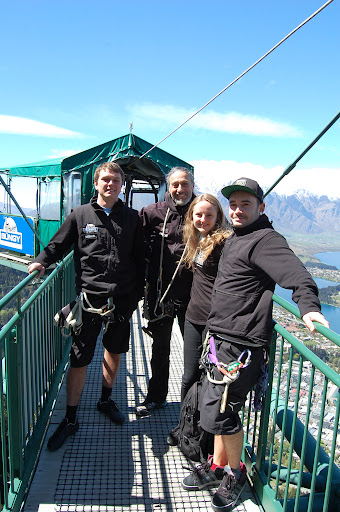 Hanging out at the Ledge Bungy in Queenstown
