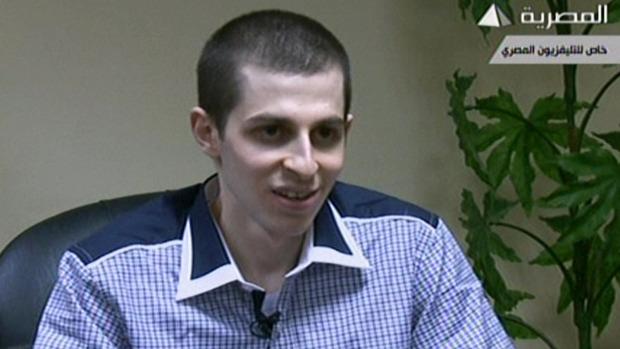 Exchange of Gilad Shalit for 1027 Arab Prisoners GiladAfterRelease