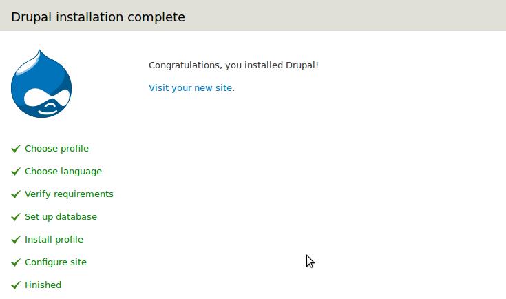 Drupal 7 Install