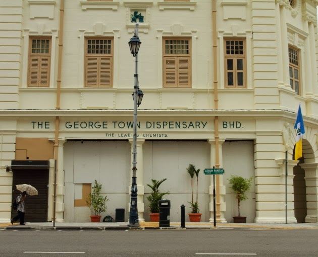A colonial building that functions as Georgetown's dispensary