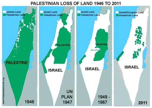 Palestine Israel Map
