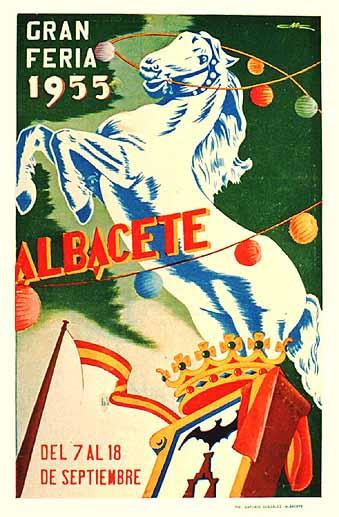 Cartel Feria Albacete 1955