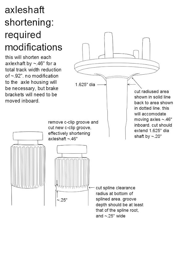 how to shorten an axle shaft
