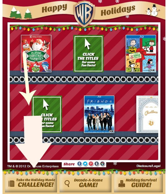 Are you a true cinephile? Then take the WB Holiday Movie Challenge! Keep your movie skills sharp with this awesome quiz! Ready. Set. Go!