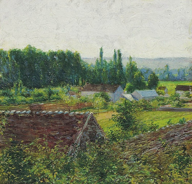 John Leslie Breck - Farmhouses in Giverny