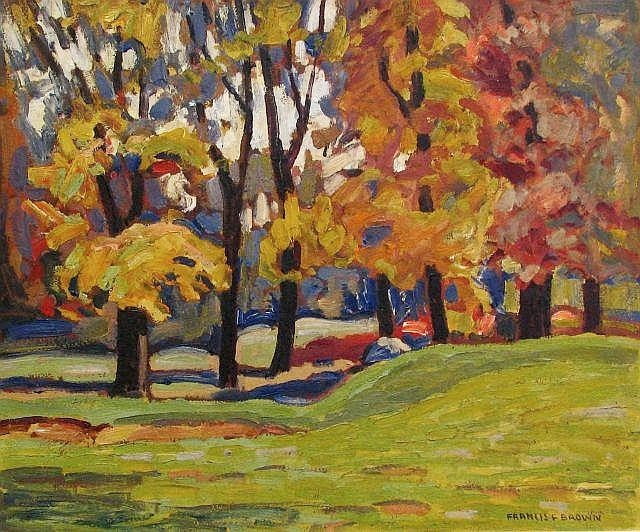 Francis Focer Brown - Valley in Fall