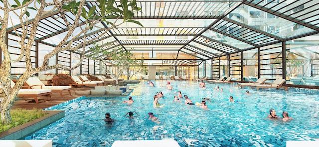 Bể bơi bốn mùa sang trọng