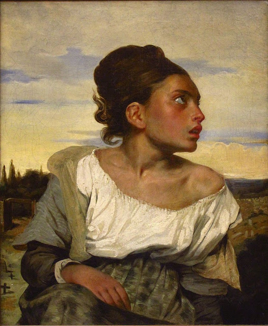 Eugène Delacroix - Orphan Girl at the Cemetery, 1823