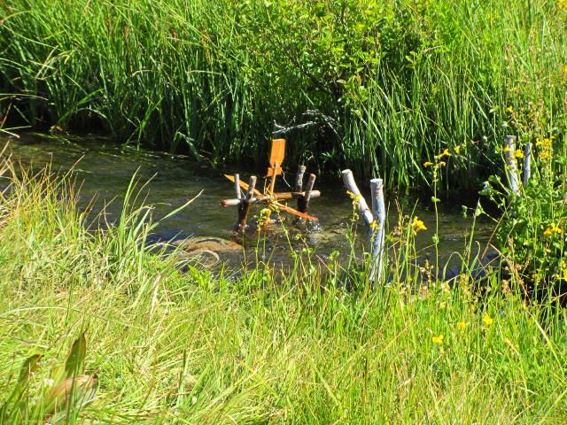 little orange waterwheel