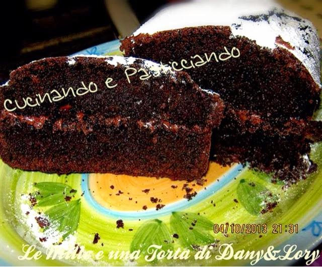 plumcake al cioccolato farcito con nutella