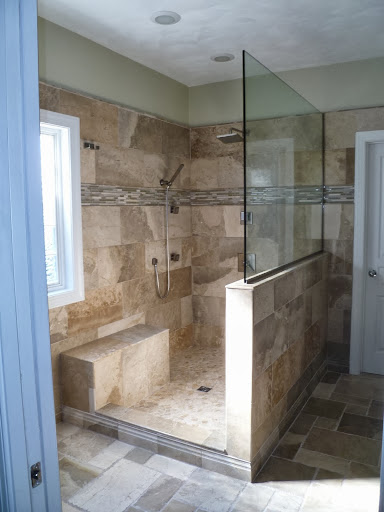 Earth Tone Bathroom Tiling Project Sea Haggs Hampton