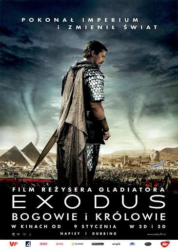 Przód ulotki filmu 'Exodus: Bogowie i Królowie'