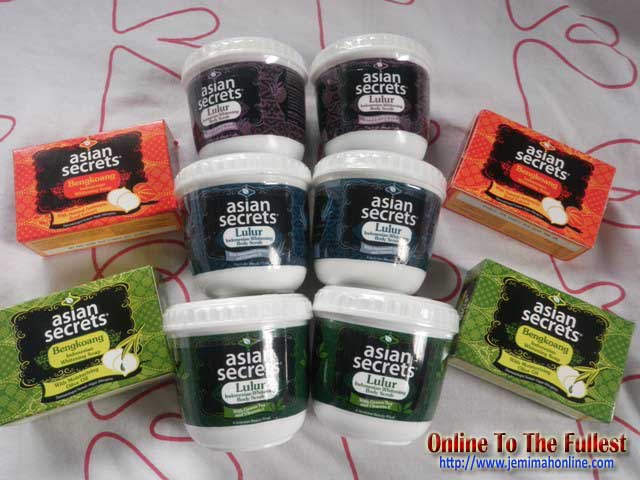 Asian secret body scrub and whitening soap