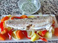 Rasol de peste cu sos de usturoi preparare
