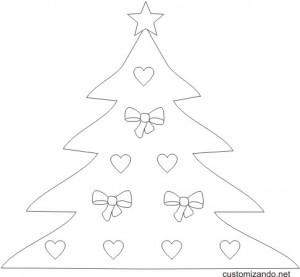 risco de árvore de natal
