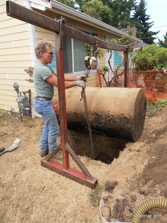 Oil Tank Demolition : Heating oil tank removal and cleanup