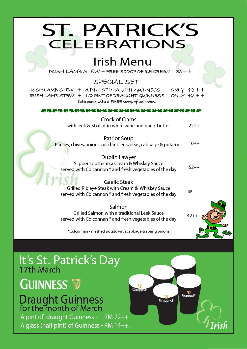 Search results for template of week calendar 2015 for Irish menu templates
