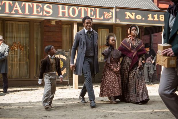 Solomon Northup con su familia