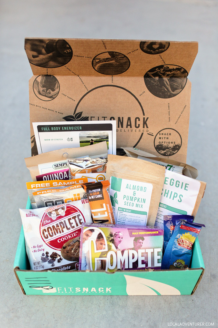 Healthy Road Trip Snacks with Fit Snack Subscription Box.
