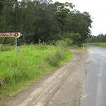 Turn off to Neranie Head campground