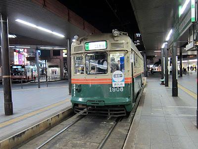 広島駅前の路面電車