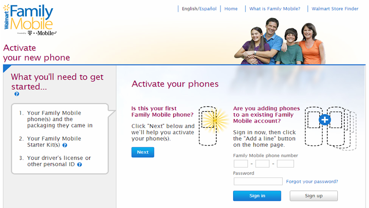 Online Activation of the Walmart Family Mobile Unlimited Plans #FamilyMobileSaves