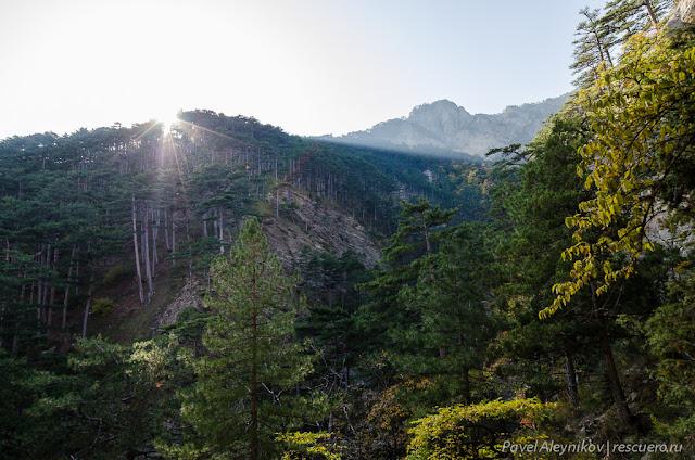 Закат в крымских горах