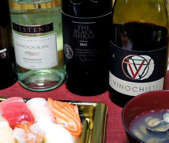 白身魚、軍艦巻きに合う赤ワイン