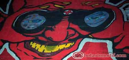banner fans suporter sepak bola AC Milan