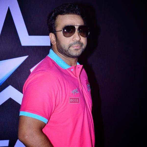 Raj Kundra during the opening match of Pro-Kabbadi League, held in Mumbai, on July 26, 2014. (Pic: Viral Bhayani) <br />