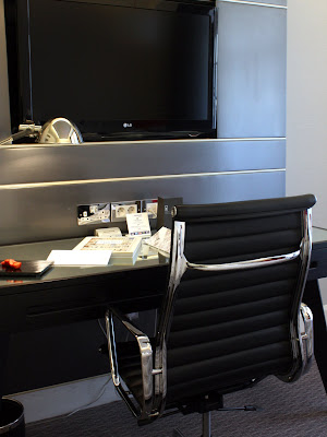 Desk at Le Meridien Piccadilly hotel in London