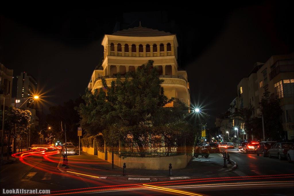 LookAtIsrael.com: Тель Авивская пагода (israel  тель авив ночь история и интересно и полезно Дома Тель Авива vivAleTelAviv )
