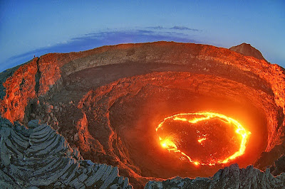 Delujoči vulkan Erta Ale