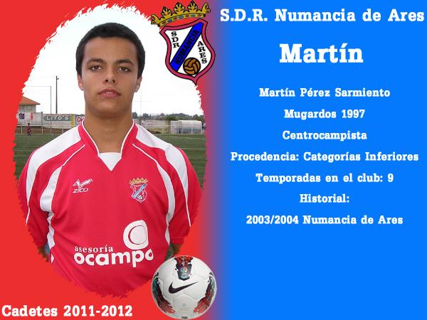 ADR Numancia de Ares. Cadetes 2011-2012. MARTIN.