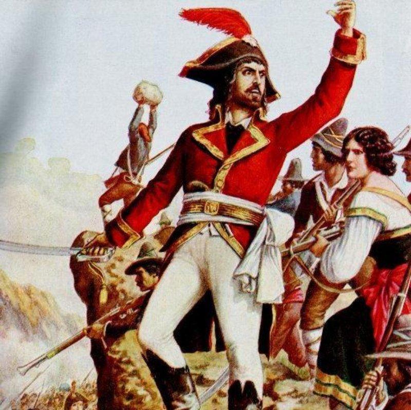 Michele Pezza aka Fra Diavolo leading Neapolitans against Frankish imperialists.