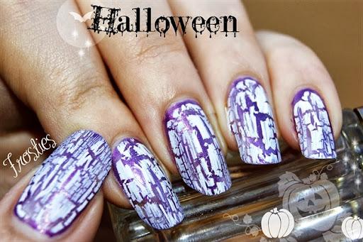 vernis crackle Halloween Violet