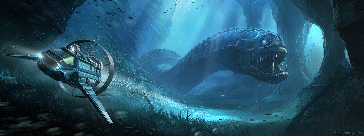 Giant Sea Creatures Art