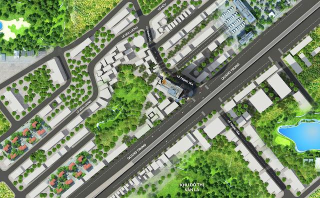 Phối cảnh quy hoạch xanh xung quanh FLC Star Tower