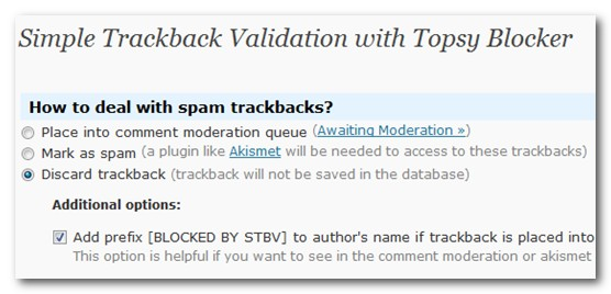 simple trackback validation