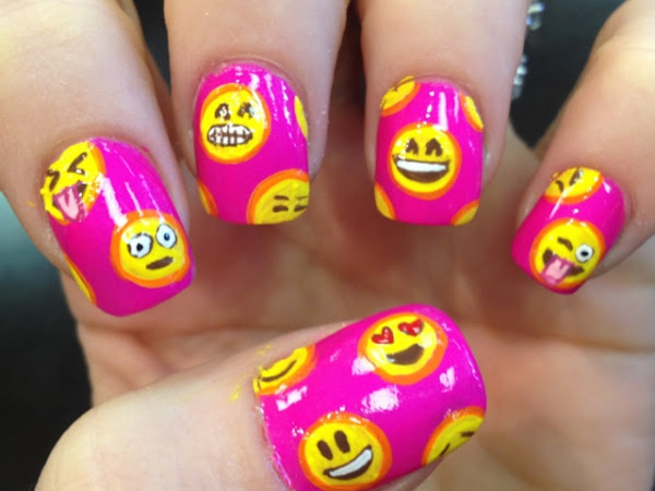 Day 244 - Emoji Nails