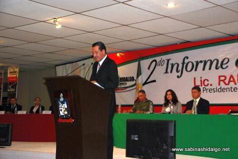 Raúl Mireles Garza en su Segundo Informe de Gobierno