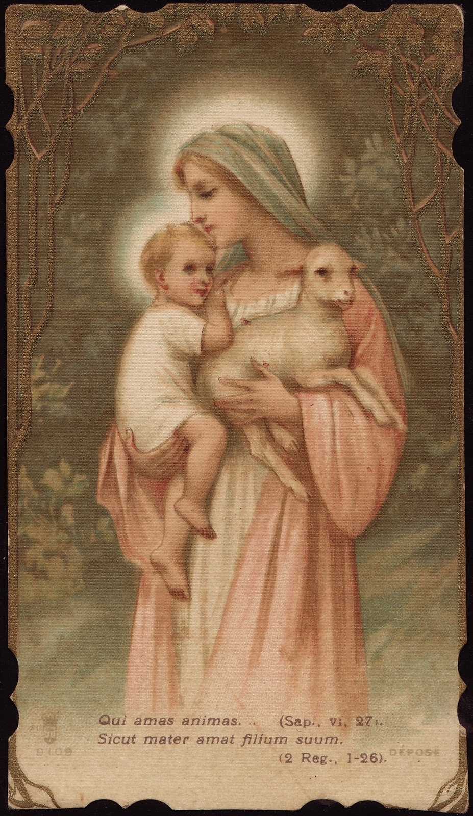 Blessed Mother Mary And Jesus Divini Pastoris...