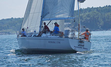 J/42 sailing Monhegan Island race