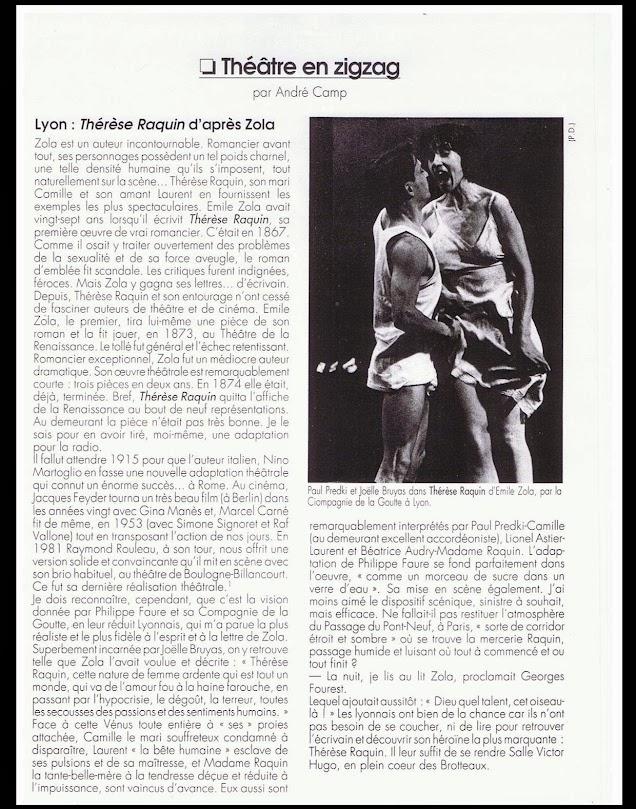 Article Avant-Scène Théâtre par André Camp
