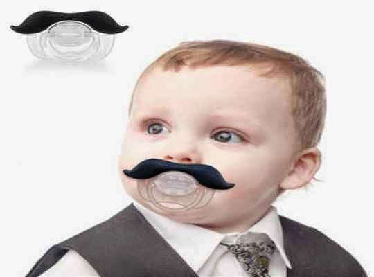 Chupete con bigotes ideas para regalos de fiestas de cumple